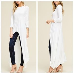 Dresses & Skirts - Winter white high low tunic dress